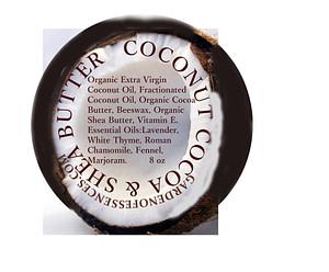 coconut, cocoa & shea body butter